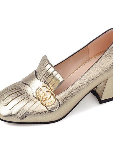 WSS 2016 Chaussures Femme-Habillé / Décontracté / Soirée & Evénement-Bleu / Jaune / Rouge / Argent / Or-Gros Talon-Talons / Bout Pointu / Bout blue-us5.5 / eu36 / uk3.5 / cn35