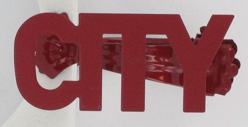 """Vorhang-Clip, 307833, 2-er Set, """"City"""", Rot"""