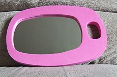 Professional Salon Pink Hand Held Hair Dressing Barbers Hairdressers Shatterproof Back Mirror - low-cost UK light shop.