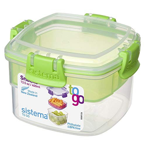 Sistema Snacks To Go Lebensmittelbehälter, 400ml, sortierte Farben (Dip-behälter, Lunch-box)