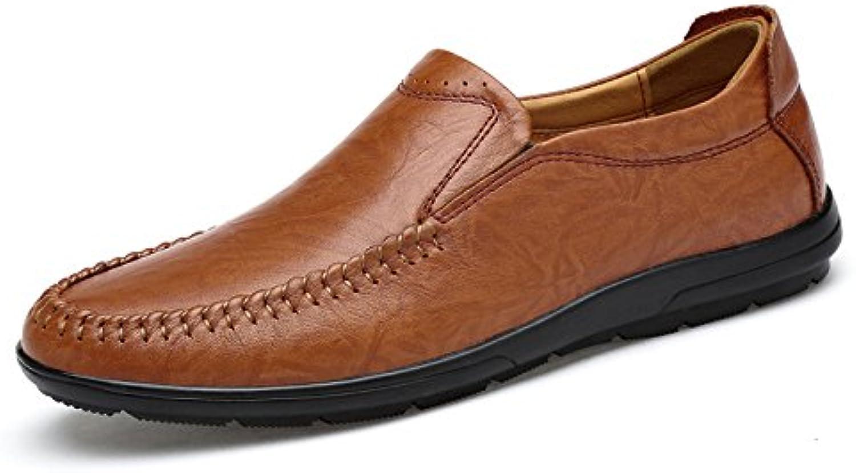 ZFNYY Männliche Erbsen Beschuht Bequeme Wilde Einzelne Schuhe Gleitschutzgroße Freizeitschuhe