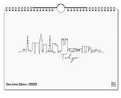 artboxONE Kalender 2020 One Line Cities Wandkalender A3 Städte