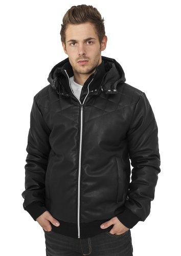 URBAN cLASSICS veste en imitation cuir-noir Noir - Noir