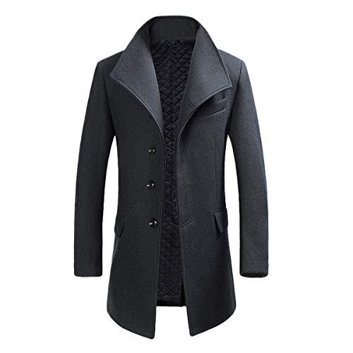 YOUTHUP Herren Wollmischung Mantel Slim fit Warmbody Winter Jacke