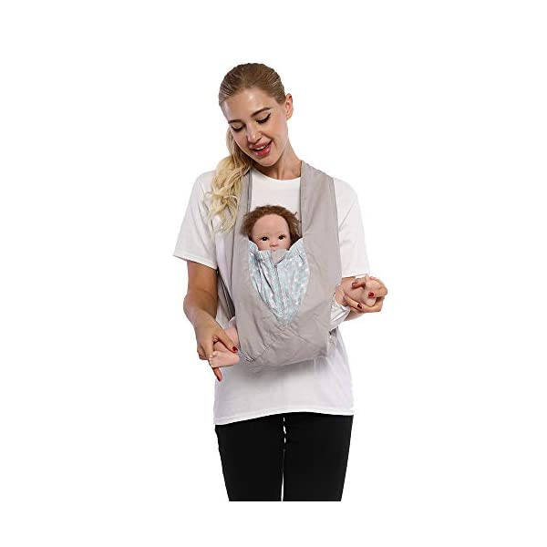 Cuby Best Organic Baby Carrier Cozy Cotton Baby Wrap X-Type Newborn Baby Sling Portabebe Ergonomica Kanguru Baby Carrier Rated (New Silver) VRbabies 💖ENJOY FREE HANDS AGAIN: Get your freedom back. Do housework, grab a coffee, shop & tend to other kids while keeping baby close. Baby stays happy while you're more productive & less stressed. Great for fussy babies! 💖STRENGTHEN BOND WITH BABY: Forging a close bond with your infant is vital to their development. Our baby carrier keeps baby close to your warm body & heartbeat where they feel safe & secure. For newborn - 35 lbs. 💖UNBEATABLE QUALITY: Manufactured with premium materials to ensure years of use and repeated washings. Sturdy fabric holds your baby safely & securely. This is a baby carrier you'll pass on to friends and family! 2