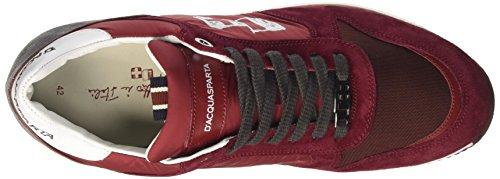 DAcquasparta Cosimo, Sneaker a Collo Basso Uomo Rosso (Nylon Bordeaux)