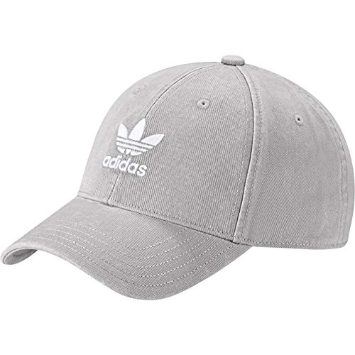 adidas Herren Adicolor Washed Baseball-Cap Solid Grey/White FR Unique (Taille Fabricant : OSFM)