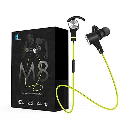 Bluetooth Kopfhörer Wireless In-Ear-Kopfhörer, nasudake M8Magnetische Schalter Sport-Kopfhörer Noise Cancelling HD Stereo Bass Kopfhörer für iPhone Samsung IOS Android