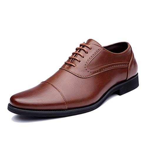 Givenchy Leder Braun (Männer Arbeitsschuhe Eurpean Stil eleganten Schuhe Kleid Formale Oxford Schuhe)
