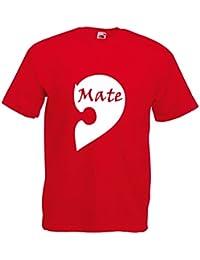 Mens soulmate half mate T-shirt