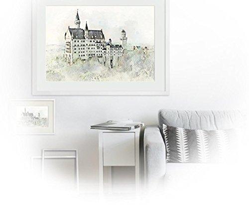 Bavaria Neuschwanstein_ Fine Art Hahnemühle mit grober, tiefenstarker Oberflächenstruktur - 50 x 40 cm – ungerahmt -