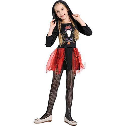 Märchen Fledermaus Kostüm - XIANGHUi MäDchen Prinzessin Kleid Halloween Rollenspiele Kinder Kleid MäDchen Hexe KostüM ZubehöR MäRchen Weihnachten Karneval Kleid Vampir KostüM Party KostüM