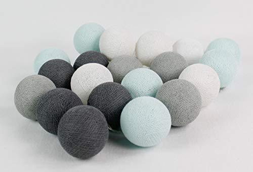 Cotton Ball Lights Aqua/gris 10, coton, White-Light Bleu/Stone/MID Grey