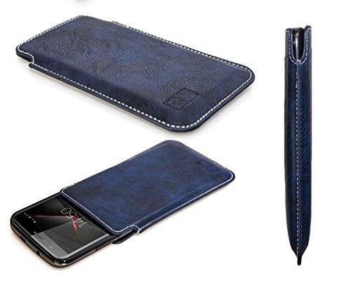 caseroxx Handyhülle Business-Line Etui für das Vernee Thor aus Kunstleder - Schutzhülle für Smartphone (Handy Sleeve in blau)