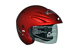 Aaron Apex Warrior Open Face Helmet (Matte Cherry Red, M)
