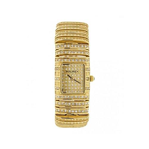 Orologio Haurex CULEBRA XY310DWP Al quarzo (batteria) Acciaio placcato oro giallo Quandrante Oro giallo Cinturino Acciaio