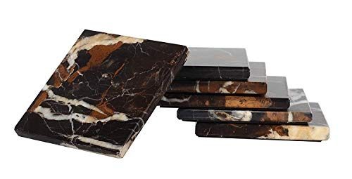 Radicaln Untersetzer-Set mit 6 handgefertigten Marmor-7,5-cm-Untersetzer-Sets Löffelablage...