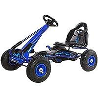 "Ricco PB9588A– kart azul para niñossobre con ruedas de goma deportes de carreras de juguete"" coche"