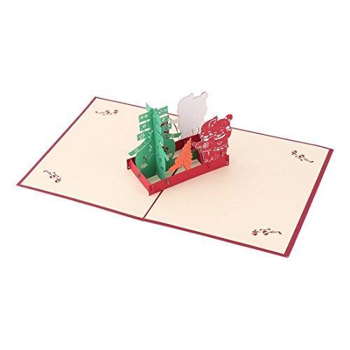 DealMux Papier Geburtstag aushöhlen Dekoration 3D-Einladungs-Gruß-Karte Feiern