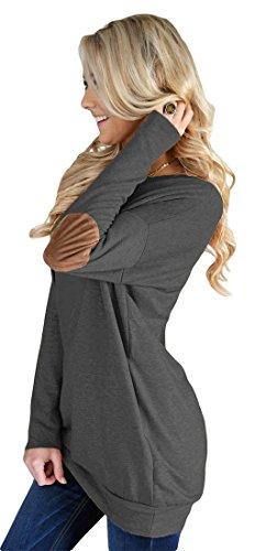 Frieda Fashion -  Felpa  - Maniche lunghe  - Donna Grigio scuro