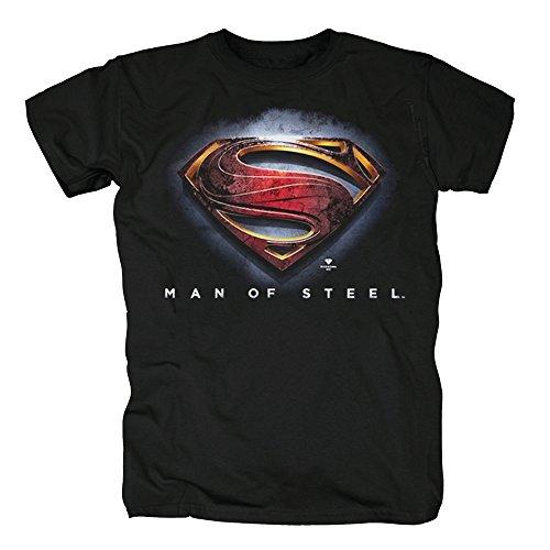 TSP Superman Man of Steel T-Shirt Herren XXXL Schwarz