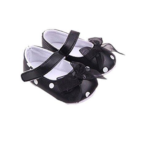 Auxma Zapatos recién nacidos, Bebé Bowknot Suave primer caminante Anti-salto forro de...