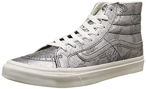 Vans Unisex-Erwachsene SK8-Hi Slim Hohe Sneakers, Mehrfarbig ((Disco Python) Black/Blanc De Blanc), 38.5 EU