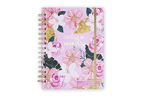 Tri-Coastal Design - Agenda 17 Mesi 2020 Giornaliera con Planner Settimanale - Copertina Rigida Resistente - Elegante Cover Decorata (pink floral)