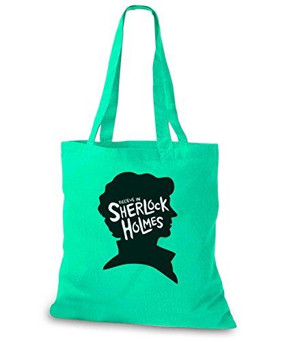 StyloBags Jutebeutel / Tasche I believe in Sherlock Holmes Mint