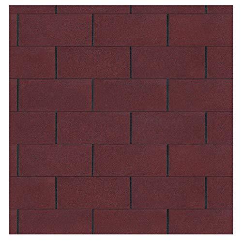 Bitumen Dachschindeln Farbe rot 3 m² von Gartenpirat