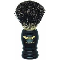 Plissons 5560 - Brocha de afeitar (pelo de tejón negro, tamaño 10, montura alta negra)