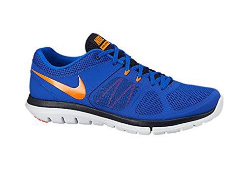 Nike Flex 2014 Rn, Scarpe sportive, Uomo Blu / Oro / Nero / Bianco (Lyn Bl / Ttl Orng-Drk Obsdn-Whit)