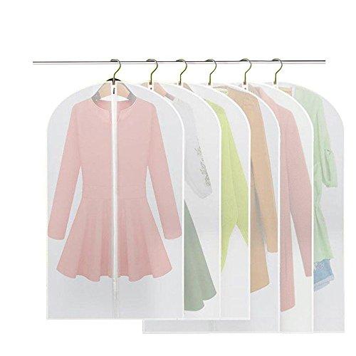 6 Stücke Kleidersack - inkl. 3 von 120 x 60 cm und 100 x 60 cm Anzugsack Kleiderhülle Anzughülle...