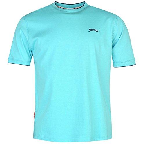 slazenger-tipped-t-shirt-mens-bright-blue-xxxx-large