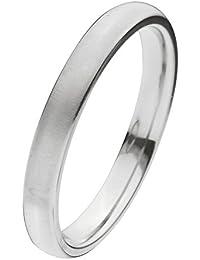 Inox Jewelry Silver Titanium Classic 3mm Matte Band Ring for Women