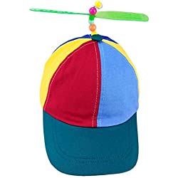 Helice Helicopter Helicopter Rainbow Tweedle Pride Party Kuso Disfraz Nerd Disfraz Nerd Propeller Sombrero Holiday Party Toy para niños y niñas