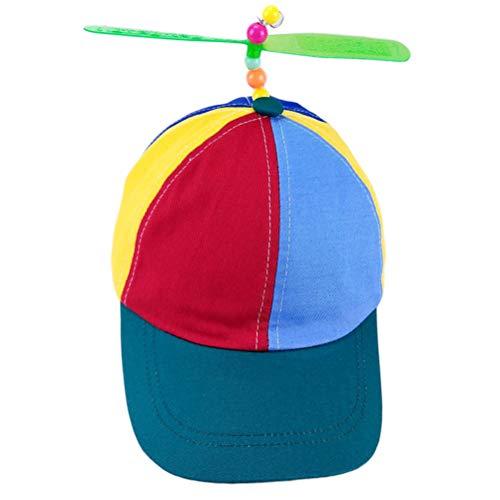 Heylas Propeller Cap Hut Mini Hubschrauber Regenbogen Pride Kostüm Nerd für Erwachsene Baseball Cap - Baseball Mini Kostüm