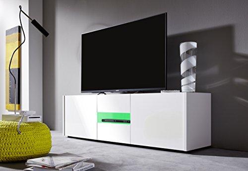 trendteam IM32001 TV Möbel Lowboard weiss Hochglanz lackiert - 4