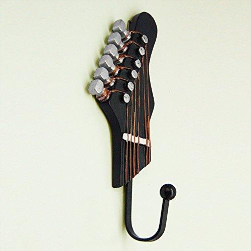 Vejaoo 3 Stück Gitarre Geformt Metall Wand Haken Vintage Handtuch Coat Wandhalter Kleiderbügel Haken - 4
