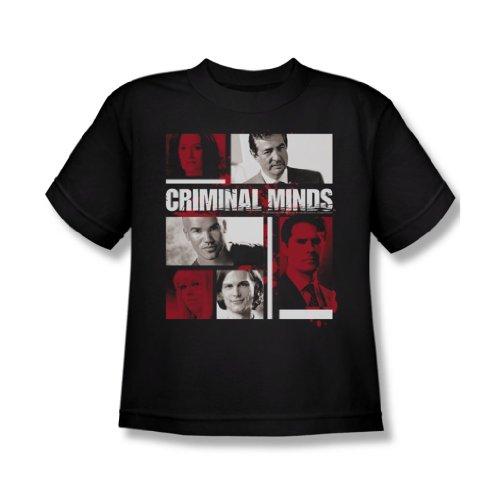 Charakter-jugend-t-shirt (Criminal Minds - Charakter-Boxen Jugend-T-Shirt in Schwarz, X-Large, Black)