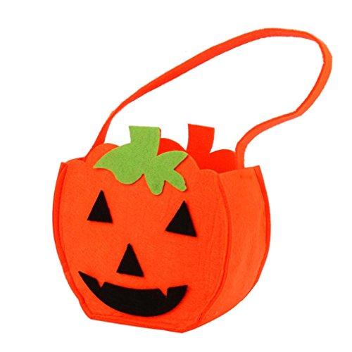 Transer® Halloween-Süßigkeit-Beutel / Eimer-Geschenk-Beutel Reizende Kürbis-Dekoration Wiederverwendbare Einkaufstasche Handtaschen-Größe: 15 * (Halloween Kostüm Zucker Mädchen)