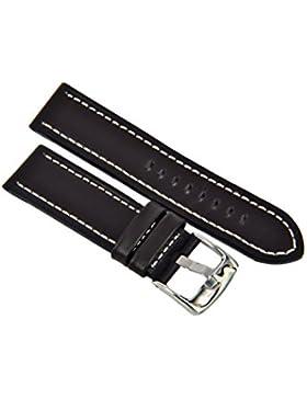 Uhrenarmband Leder Braun Heavy Flat Profile Naht 18-20-22-24mm Armband Uhr Band 24mm
