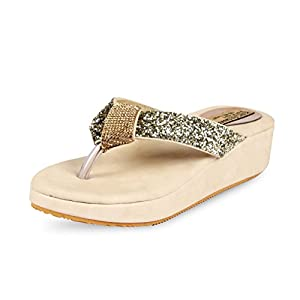 Anand Archies Women's Slippers AA-110 Beige