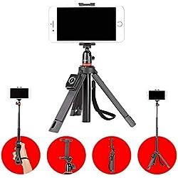 JOBY TelePod Mobile Trépied Tout-En-Un, Poignée, Monopode, pour Téléphone, Vlogging, Smartphone, Caméras 360°, Smartphones,iPhone, JB01550-BWW