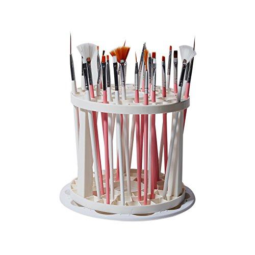 EBYTOP organizzatore e espositore per pennello da 49 e 10 pozzi Tinte Palette vassoio Artista pittura, di plastica bianca