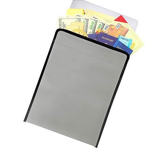 Flegacy feuerfeste Dokumentenmappe & Aktenhalter, sichere Tasche & Schreibtisch-Organizer für Geld & Wertsachen, wichtige Zeitschriften, Filmtaschen, Schmuck grau -