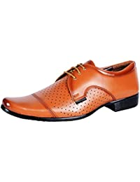 HOT MAN Men's Black Synthetic Formal Shoes-10 (HM-3423-Black_10)