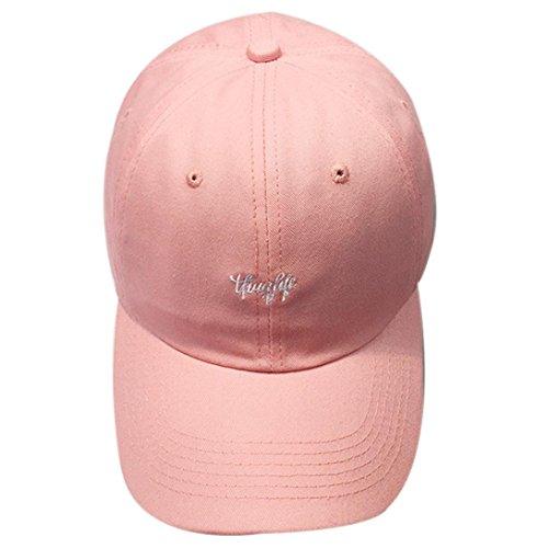AMUSTER.DAN Unisex Baseball Cap Mode Snapback Hip Hop Flat Hüte Baseball Cap Geschenk Cap (Rosa) (Angeln Trucker Hut)