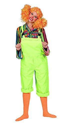 Karneval-Klamotten' Kostüm Latzhose grün Hippie Clown Latz-Hose grüne Arbeitshose Gärtnerhose grün Herren-Kostüm Damen-Kostüm Karneval Fasching Größe 44/46