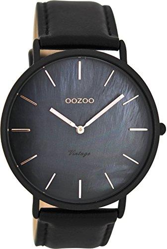 Oozoo Herren Digital Quarz Uhr mit Leder Armband C8134 -